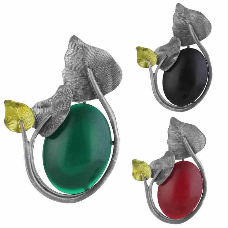 Muda Tulip 3 Warna Kreatif Resin Bunga Bros untuk Wanita Vintage Perhiasan Korsase Bros Pin Kain Aksesoris Perhiasan Hadiah