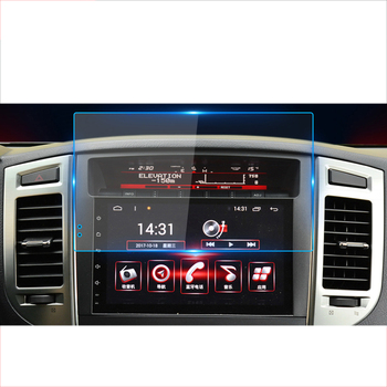 lsrtw2017 car GPS navigation screen anti-scratch protective toughened film for mitsubishi pajero 2014 2015 2016 2017 2018 2019 image