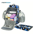 mommore New Fully-opened Baby Diaper Backpack Bag with Changing Pad Baby Diaper Backpacks Nappy Bags Multifunctional Changing