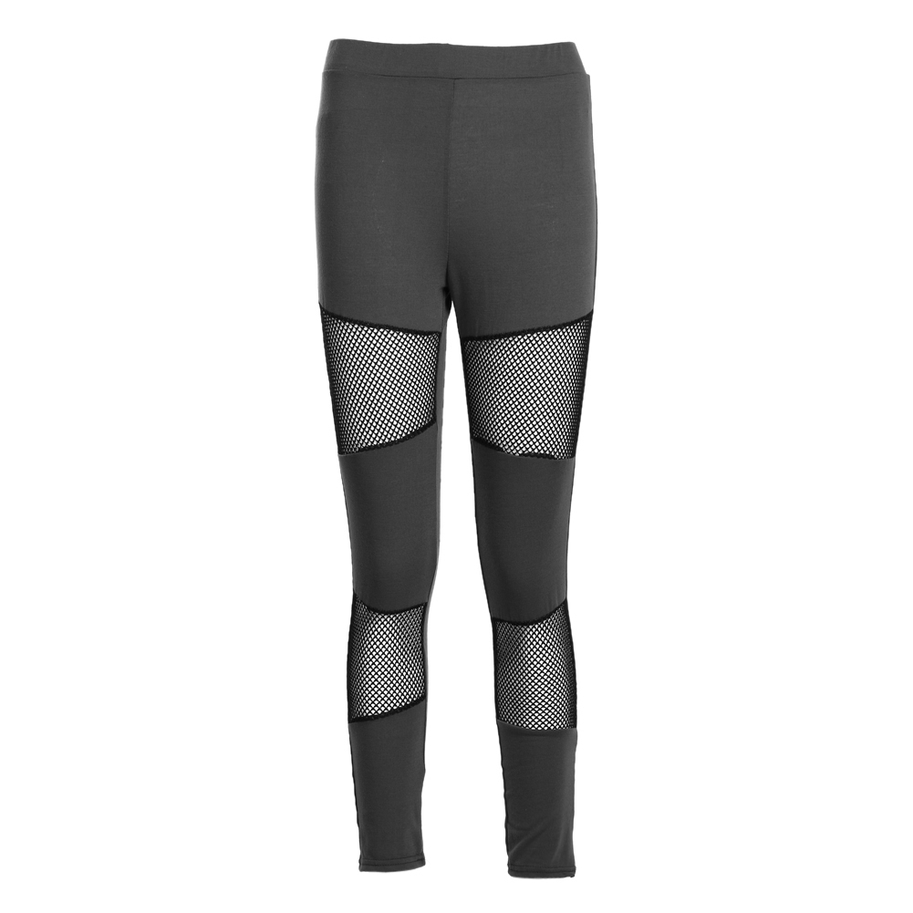 Women Long Pants Mesh Panels Stretchy Workout Leggings Drop Shipping Hot Women Trouses Pant Capris Black