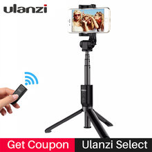 Ulanzi Bluetooth trípode Selfie Stick Control remoto extensible Monopod trípode para iPhone X Samsung Android Vertical disparar(China)