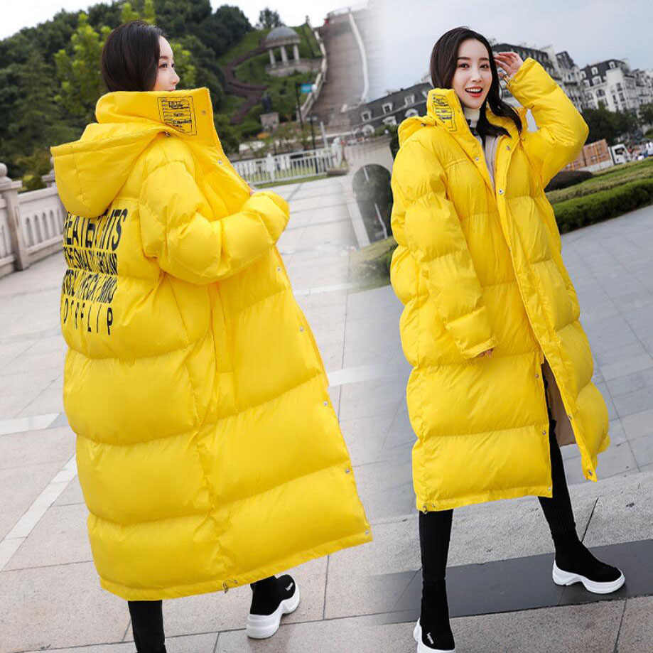 d2ccc841967d9 Women winter knee-high cotton long style coat new MOM thickening jacket  pregnant hooded fat