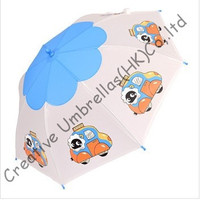 Kid umbrella,cartoon design,auto open.8mm steel shaft and fluted ribs,safe&enviroment kid umbrellas