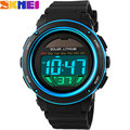 SKMEI 2017 New popular Brand Men Military Sports fashion casual Watches blue gold purple Digital LED Wristwatches rubber strap