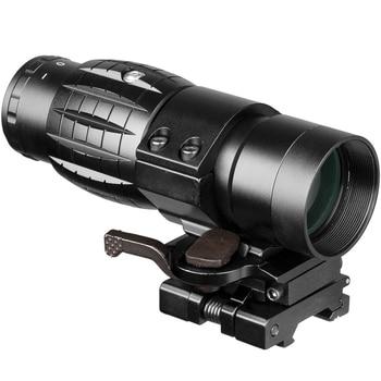 Fuoco Lupo 3x Lente di Ingrandimento Portata Ottica Tattica Sight Riflescope di Caccia Attrazioni Con Fit For 20 millimetri Pistola del Fucile Ferroviario