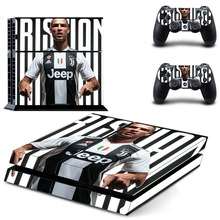 Football Star Cristiano Ronaldo CR7 PS4 Skin Sticker Decal for Sony PlayStation 4 Console and Controllers Skin PS4 Sticker Vinyl