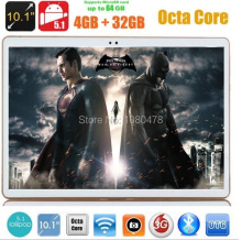 10 pulgadas tablet pc Octa Core 4G LTE Android 5.1 4 GB RAM 32 GB ROM IPS GPS wifi 5.0MP 10.1 MEDIADOS Phablet DHL envío