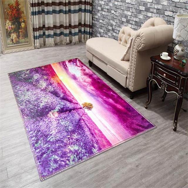 Online Shop Modern 3D Printing Scenic Carpets For Living Room Home ...