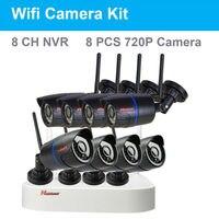 720P Wifi IP Camera Kit CCTV System 8CH NVR Kit 8pcs Video Output CCTV Home Security