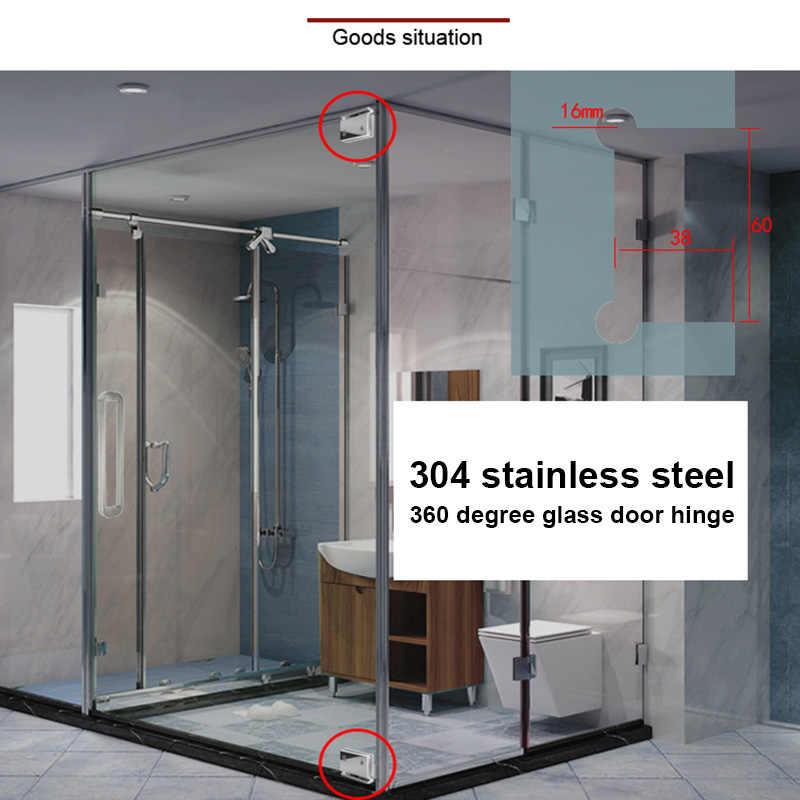 الثقيلة 360 درجة باب زجاجي المفصلي خزانة خزانة عرض المشبك أبواب زجاجية للدش المفصلي LO88
