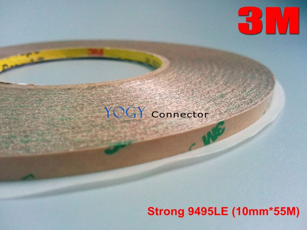 3M 10mm*55M 3M 9495LE 300LSE Super Strong Sticky Double Sided Adhesive Tape Waterproof for Cellphone LCD Lens Glass Bond
