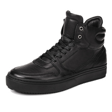 Autumn Winter Korean Leather High-top Shoes Mens Sports  Leisure Wild Tide Fashion