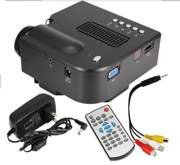 Hot Sale HD1080P UC28 Projector Mini LED Digital Video Game Projectors Multimedia Player Inputs AV VGA