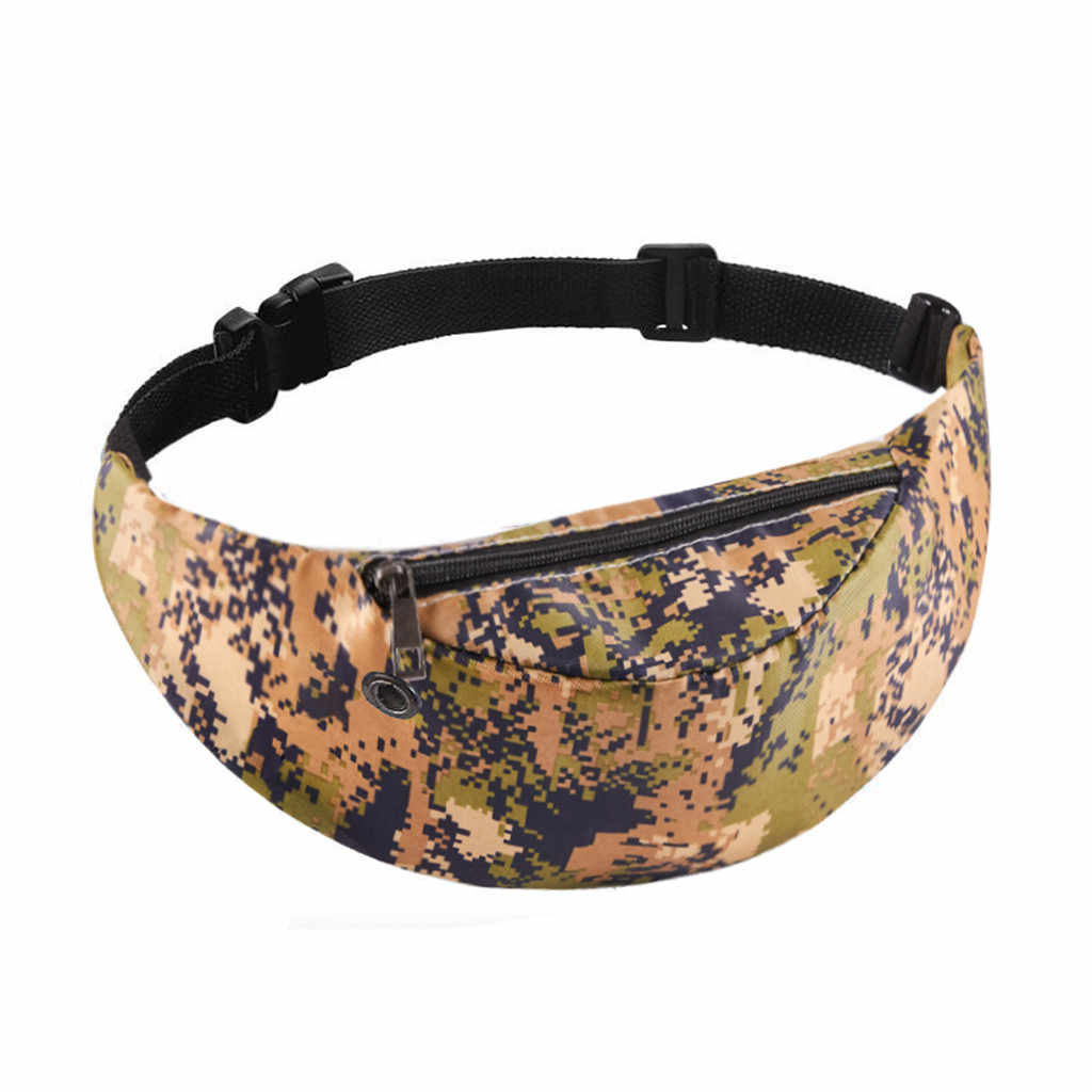 Fashion Casual Men Chest Pack Single Shoulder Colorful Waist Bag Waterproof Travel  Pack Mobile Phone Waist Pack Belt Bag #DX