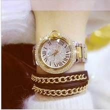 Women Watches Quartz Diamond Luxury Watch  Wristwatch Fashion Metal  band Watch Ladies Crystal Jewelry Rose Gold material
