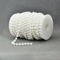 20 M/Roll Bianco Linea di Pesca di Perle Perline Catena Diametro 8mm Perline Ghirlanda di Fiori Decorazione Della Festa Nuziale del Branello catena bianco