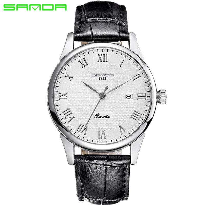 2016 Luxury Men s Watch Fashion Quartz watch Waterproof Man Watches Brand Luxury Relojes Hombre Leather