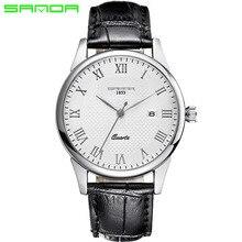 2016 Hombres de Lujo del Reloj de Cuarzo de Moda reloj de Hombre Impermeable Relojes de Marca de Lujo Relojes Hombre relogios masculinos de Cuero