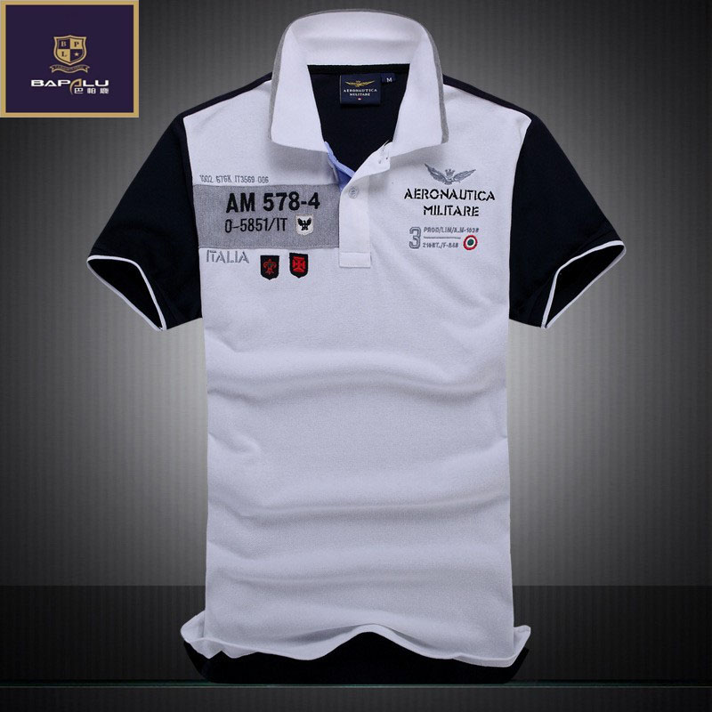 Summer new   polo   Shirt Men Business 100%cotton embroidery Leisure Stitching   Polo   shirt European and American style   polo   Shirt