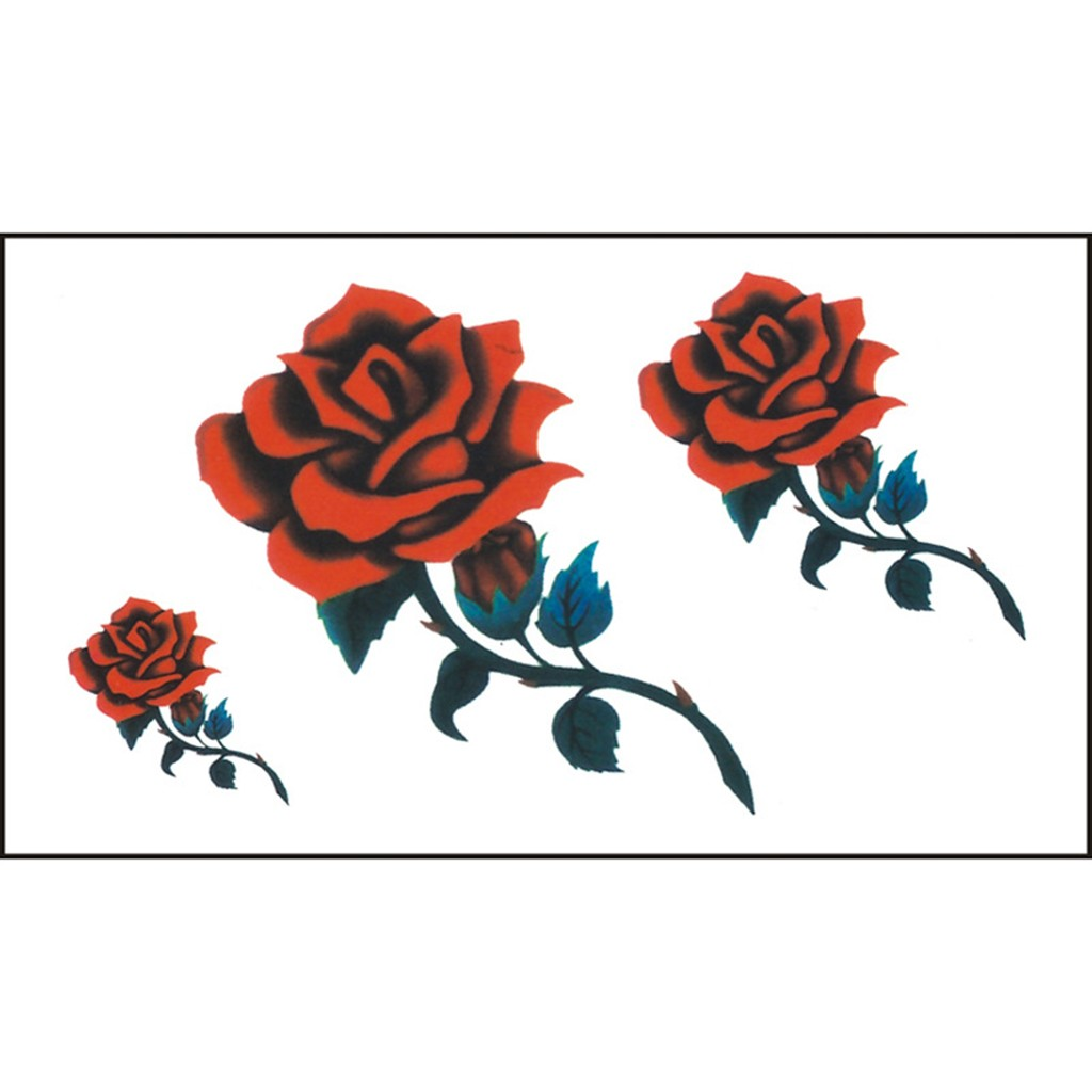 2019 NEW Flowers Tattoos Men And Women Henna Tattoo Body Art Design  Waterproof Body Temporary Tattoos Removable Sticker   4