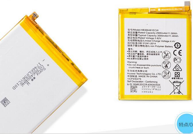 Für Huawei HB366481ECW Lithium-ionen-akku Für Huawei P9 Ascend P9 Lite G9 honor 8 5C G9 Honor 9 Lite 2900 mAh