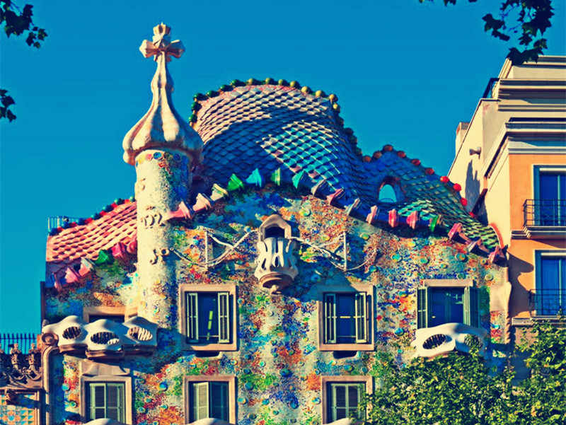 Kokoer 5D Diy יהלומי ציור Casa Batllo ספרד טירת צלב רקמה תפר רקמת יהלומים מלא דקורטיבי חג המולד