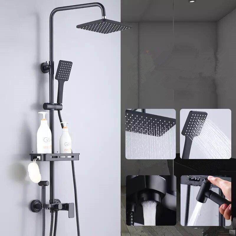 Noir pur ensemble de douche avec douche de bidet salle de bain blanc ensemble de douche de bidet blanc Baignoire robinet blanc ensemble de douche de bidet MJ9888W