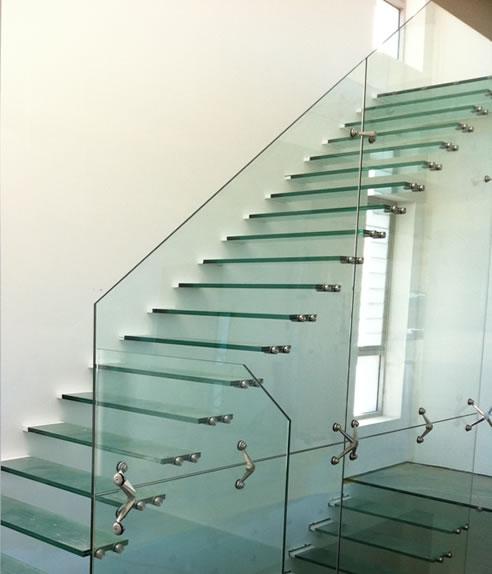 Longarina Metal Para Reta Escada/Escada Flutuante
