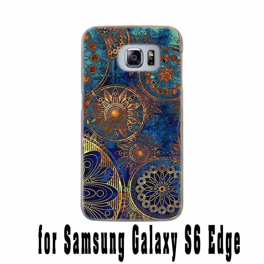 BINFUL case cover hard Transparent for Samsung S9 S8 S7 S6 S5 S4 S10 Edge Plus for Galaxy Note 10 Pro 9 8 Painted Pattern Style