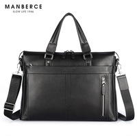 Free Shipping P Kuone Man Commercial Male Handbag Genuine Leather Shoulder Men S Asual Bag Leather