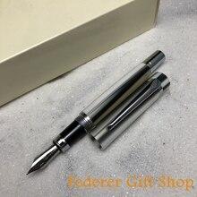Acrylic Fuliwen Fountain Pen Multiple Color Straight Line Patter Iridium M Nib Pen F1008