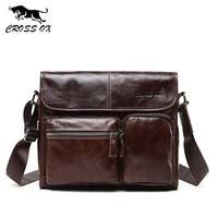 CROSS OX Hot Wax Leather Series Messenger Bag Men Bag Genuine Leather Shoulder Bags Cross Body Bags Vintage Satchel SL395M