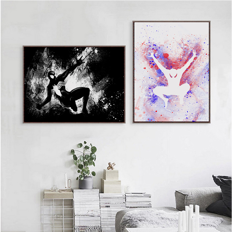 Splash Dc Comics Movie Spider Man Canvas Painting Art Print Poster Picture Wall Paintings Child Bedroom Home Decor In Painting Calligraphy From Home