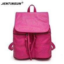Новая стиральная сумки крупных Европейских и Американских высокого класса двойной плечо сумки личность кожа женский рюкзак