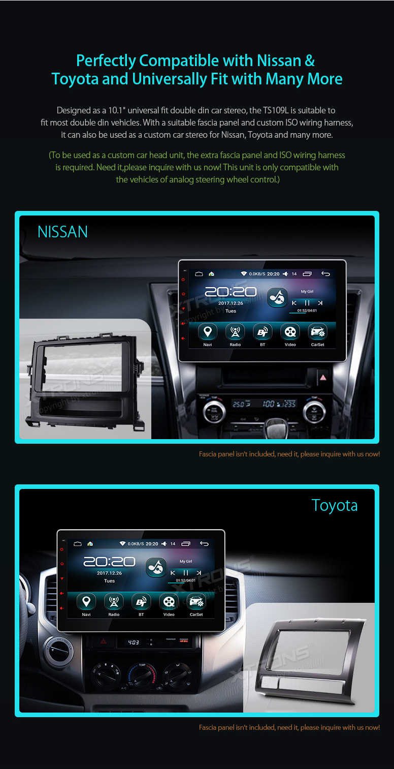 Xtrons 101 Hd Universal Android 60 Quad Core Digital Touch Screen Custom Auto Wiring Accessories Ts109l 01 02 03 04