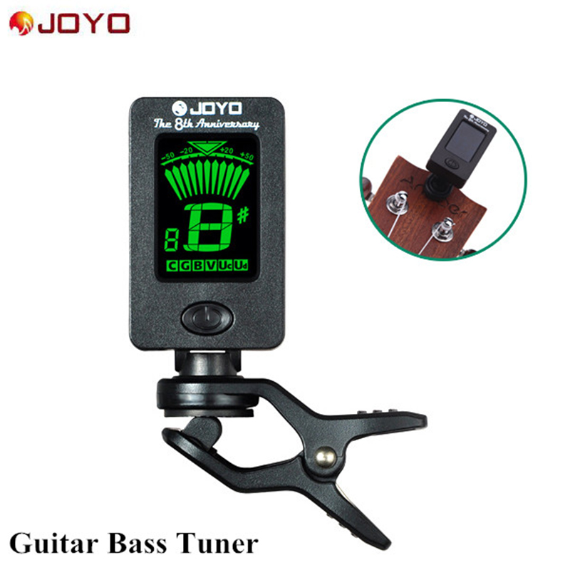 New 360 Degrees Rotating Mini Clip LCD Digital Clip-on Tuner for Chromatic Guitar Bass Violin JOYO Ukulele C D JT-01 lt 33 electronic piezo clip on chromatic tuner guitar bass ukulele violin chromatic tuner for musical instrument accessories