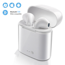 i7s Tws Bluetooth Earphones Mini Wireless Earbuds Sport Handsfree Earphone Cordless Headset with Charging Box for xiaomi Phone купить недорого в Москве