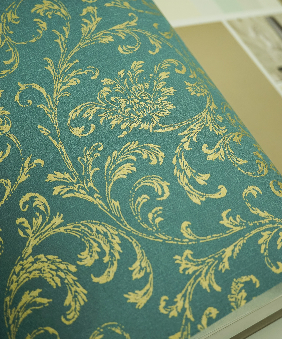 Royal Gold Leaves Florals Wallpaper Roll Tapeten Vintage Blumenmuster In Wallpapers From Home Improvement On Aliexpress