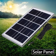 5V 7.5W 1.4A Solar Panel Power Module DC Plug Polycrystalline Solar Panels For Emergency Light Outdoor Charging