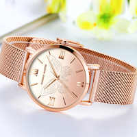 Women Watches Stainless Steel Mesh Pink 3D butterfly Ladies Watch Top Brand Japanese Movement Luxury Rose Gold Female WristWatch