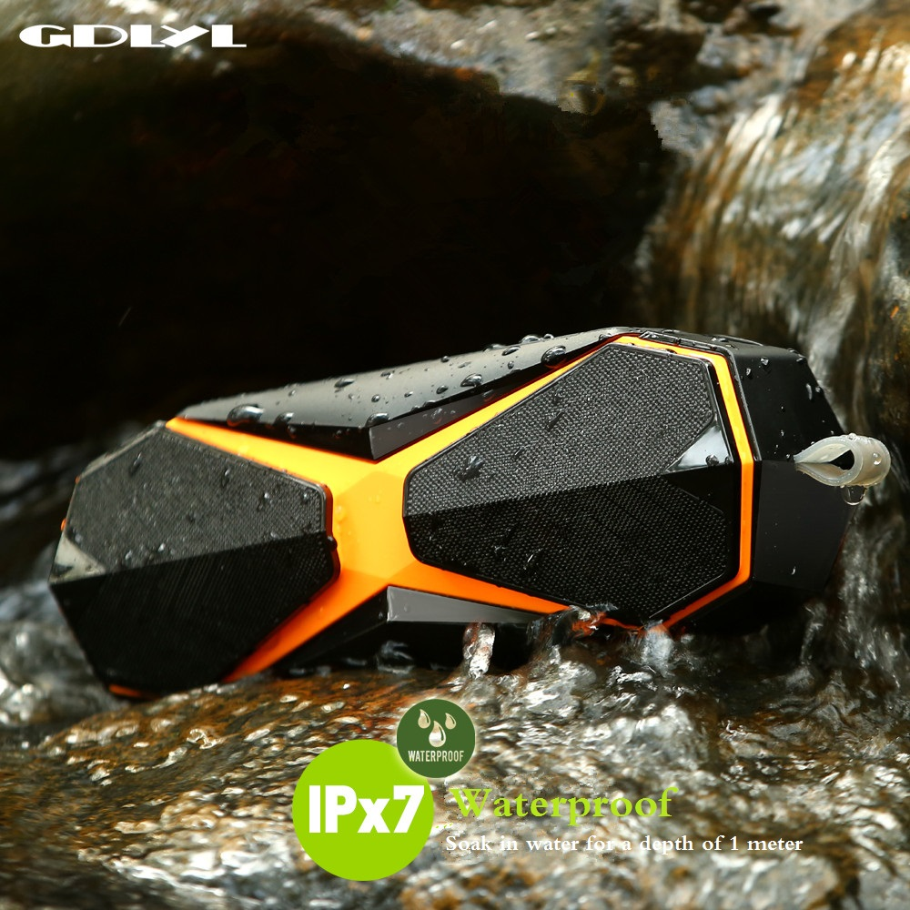 GDLYL Portable Bluetooth Speaker Shock Resistance IPX7 Waterproof Speaker With Bass Wireless Bluetooth 4.2 TF Card Built-in Mic