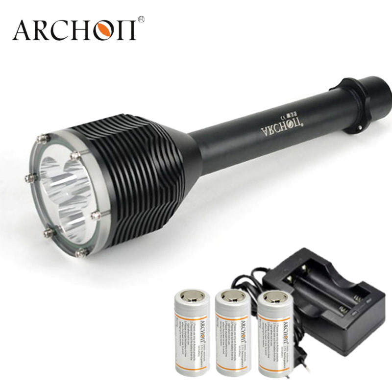 ARCHON D33 W39 Led Diving Flashight CREE XM-L2 U2 LED Diving Light Waterproof Underwater 100M Torches 3000 Lumens 26650 Btttery archon dh25 wh31 1000 lumens cree xm l u2 canister snorkeling scuba diving light