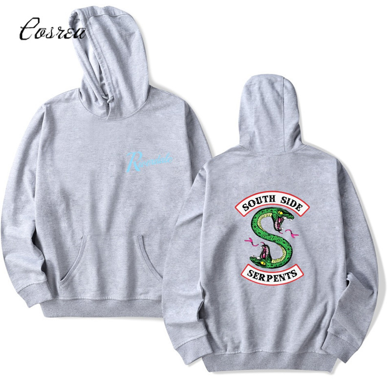 Riverdale Sweatshirt Riverdale Necklace Men Pullovers Female Cropped Hoodie Sweatshirts South Side Serpents Riverdale Tracksuit