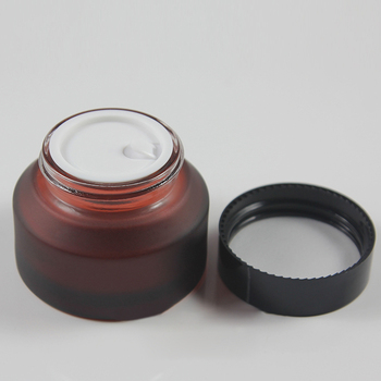 50pieces High quality 50g rose red glass cream jar, 50 g empty amber glass cosmetic jar ,frost 50g glass jar or cream container