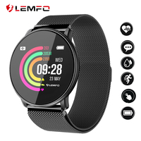 LEMFO LT03 Smart Watch Men Women Tempered glass DIY Watch Faces Multi sports Mode Heart Rate Monitor Smartwatch for IOS Android