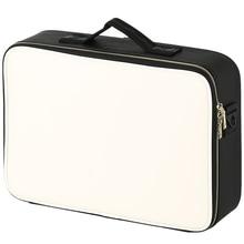 Lederen Clapboard Cosmetische Tas Professionele Make Up Box Grote Capaciteit Opslag Handtas Reizen Insert Toilettas Make Up Koffer