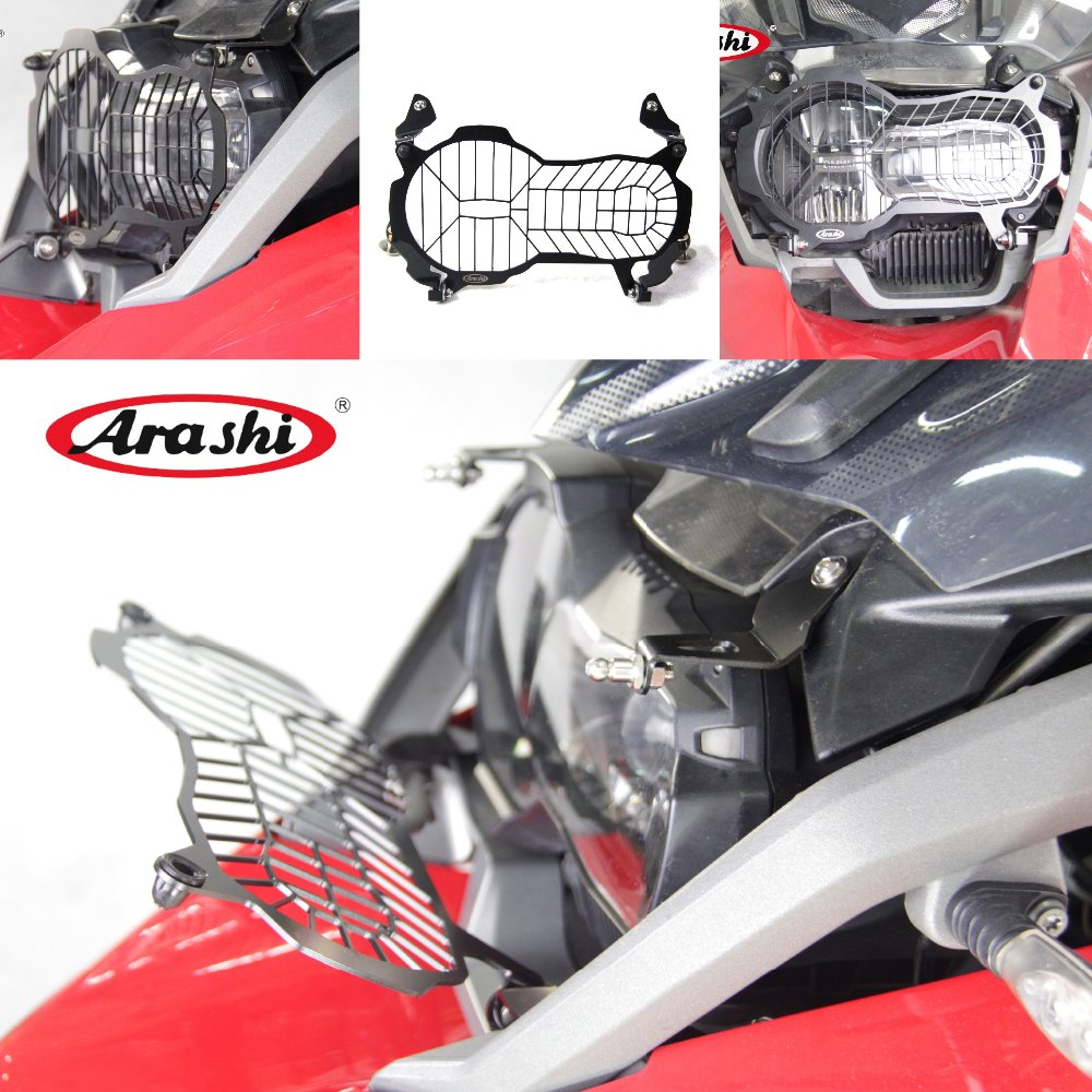 Arashi CNC R1200GS 2013-2018 Headlight Protector Guard Cover For BMW R1200 GS R 1200 GS 13 14 15 16 Headlight Grille Motorcycle цена