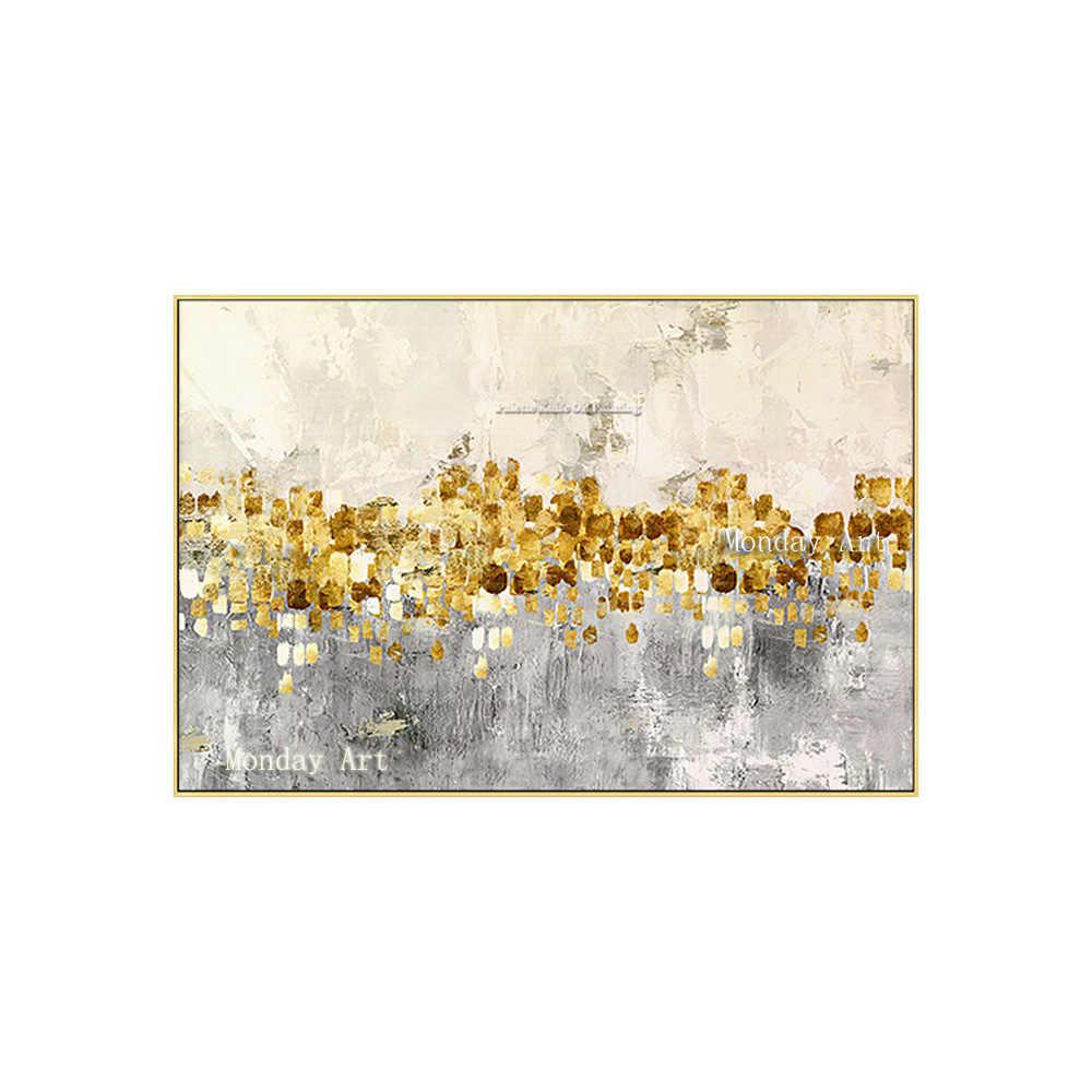 Большое Золотое Искусство 100% ручная роспись абстрактная картина маслом настенная декорация quadro cuadros decoracion Настенная картина для гостиной