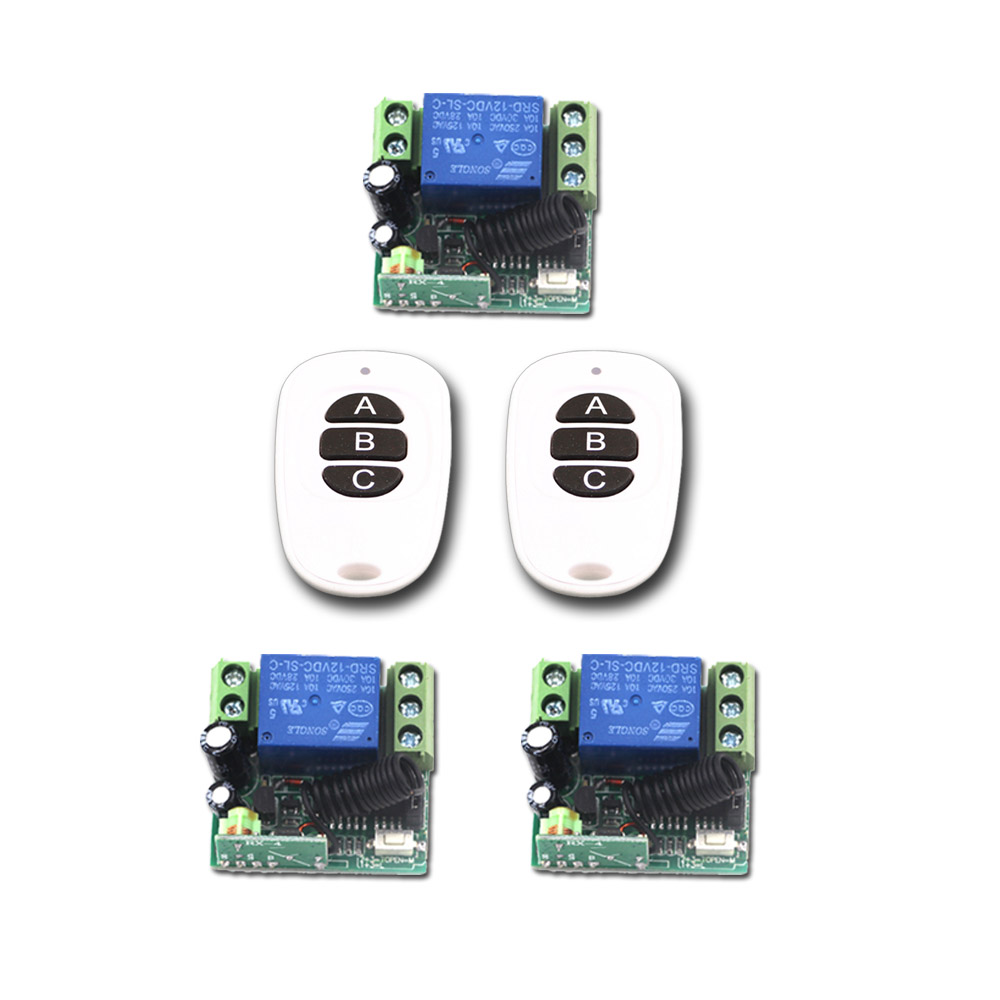 DC 12V 24V Remote Switch 1CH 10A Remote Control Switch Mini Relay Wireless Remote Control Switch 315Mhz / 433Mhz new 1ch 7v 12v 24v dc relay module switch wifi rf 433mhz wireless remote control timer switches for light work by phone