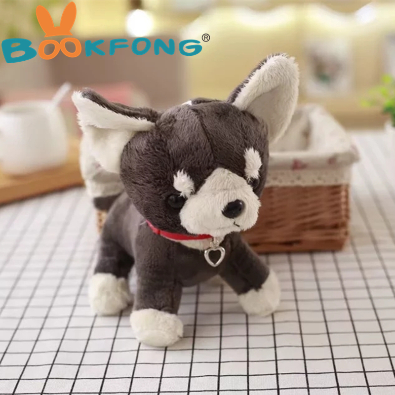 BOOKFONG 1PC 20CM Simulation Akita Dog Plush Doll Toy Japanese Puppy Doll Soft Stuffed Animal Dog Birthday Gift for Kids dog pillow toy soft stuffed toy plush doll small puppy high end boutique decoration birthday gift for girlfriend 70c0626